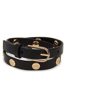 🍁Authentic Tory Burch Double Wrap Bracelet Logo